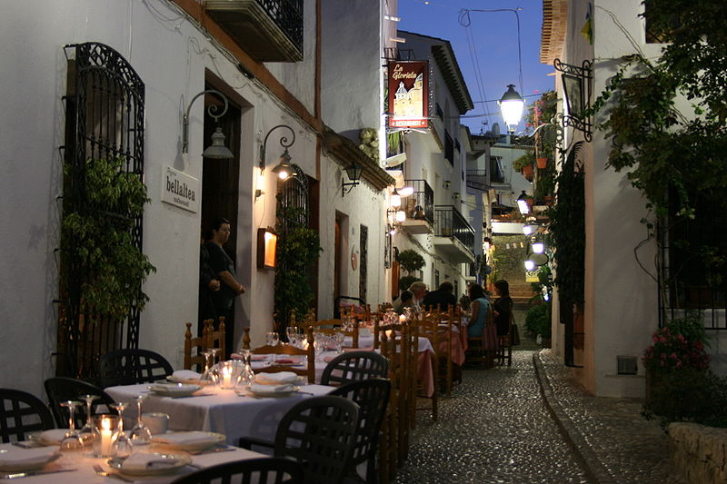 Altea at night